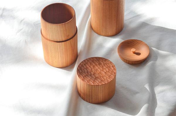 ICHI TSUTSU 木製の茶筒
