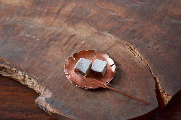 ICHI KOMON 銅製、雪小紋の小皿